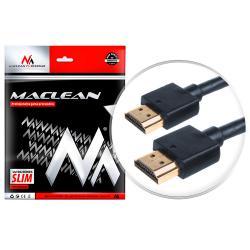 Przewód HDMI-HDMI SLIM v1.4 0,5m Maclean MCTV-700