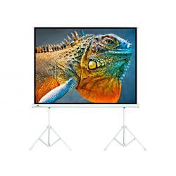"""Ekran projekcyjny Maclean MC-712 na dwóch statywach 150"""" 4:3 300x225"""