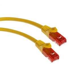 Przewód kabel patchcord UTP cat6 wtyk-wtyk 0,5m żółty Maclean MCTV-300 Y