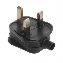 Wtyk UK czarny do montażu na kabel Maclean MCE193 13A 230V UK 3 Pin