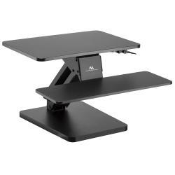 Podstawka biurkowa na klawiaturę i monitor lub laptop czarny MC-882 do pracy stojąco siedzącej - sprężyna gazowa
